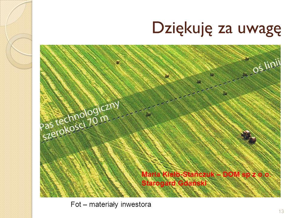 13 Dziękuję za uwagę Kiedyś… Fot – materiały inwestora Maria Kiełb-Stańczuk – DOM sp z o.o. Starogard Gdański