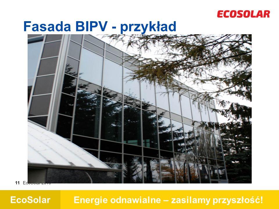 EcoSolar Energie odnawialne – zasilamy przyszłość! 11EcoSolar 2016 Fasada BIPV - przykład