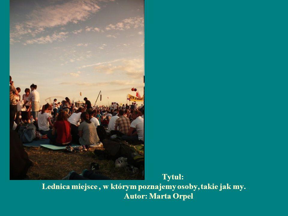 Tytuł: Lednica miejsce, w którym poznajemy osoby, takie jak my. Autor: Marta Orpel