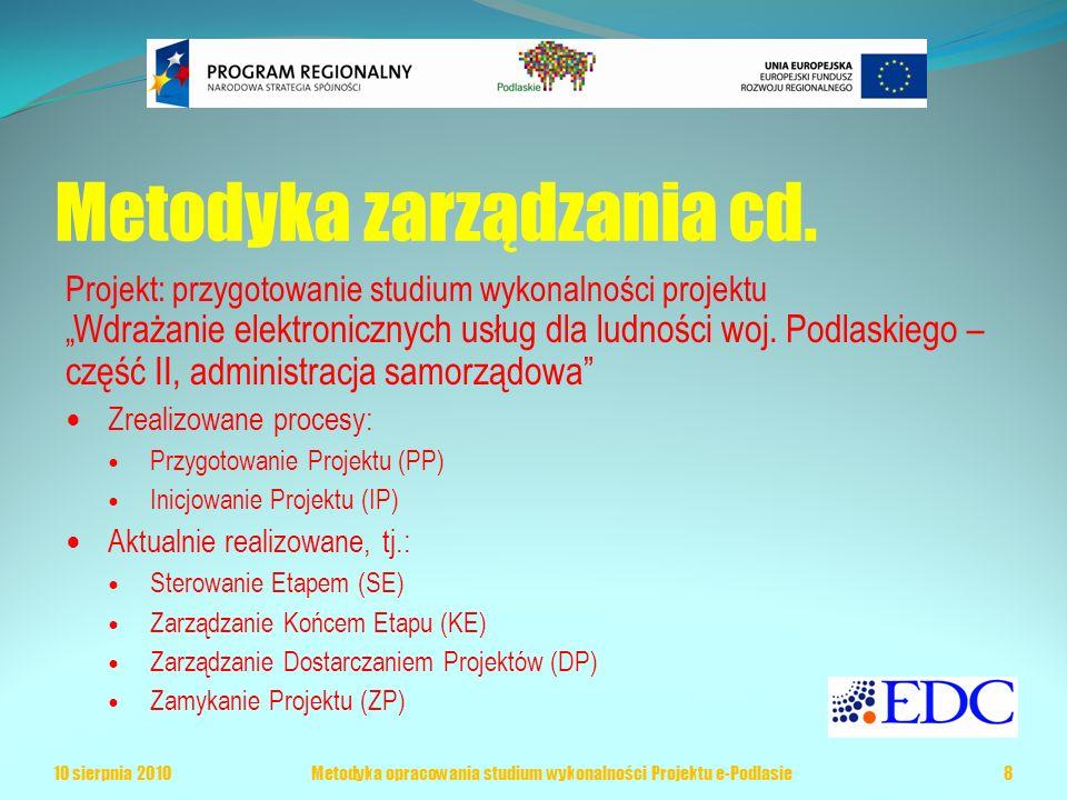 Metodyka zarządzania cd.