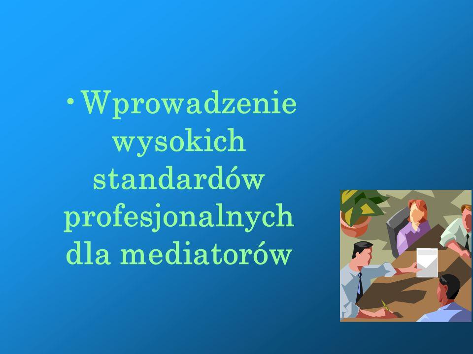 Zastosowanie mediacji w systemie sądów powszechnych: Programy mediacyjne w sądach Przekonanie sędziów, że jest to efektywna metoda rozwiązywania sporów Zaangażowanie i wiedza sędziów na temat mediacji
