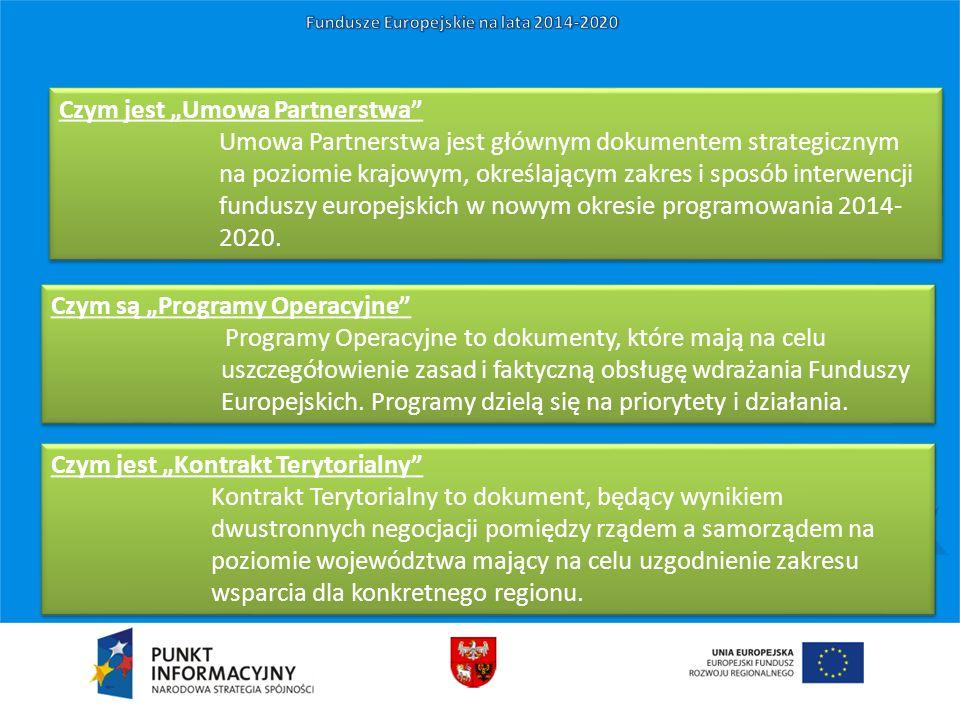 """Czym jest """"Umowa Partnerstwa"""" Umowa Partnerstwa jest głównym dokumentem strategicznym na poziomie krajowym, określającym zakres i sposób interwencji f"""