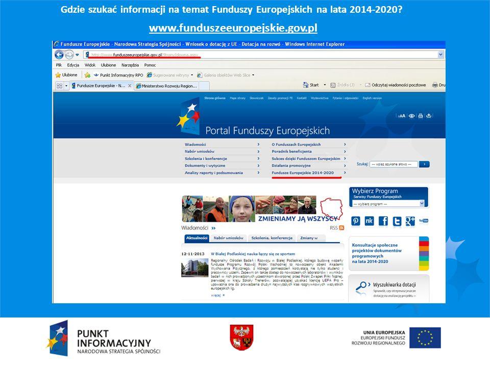 www.funduszeeuropejskie.gov.pl
