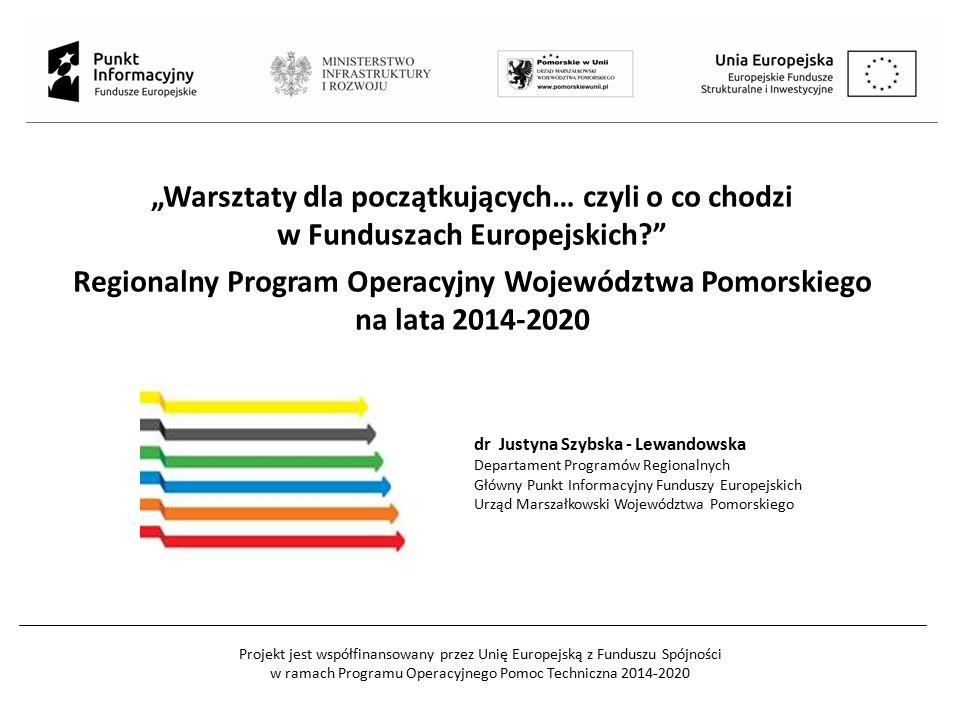 """Projekt jest współfinansowany przez Unię Europejską z Funduszu Spójności w ramach Programu Operacyjnego Pomoc Techniczna 2014-2020 """"Warsztaty dla pocz"""