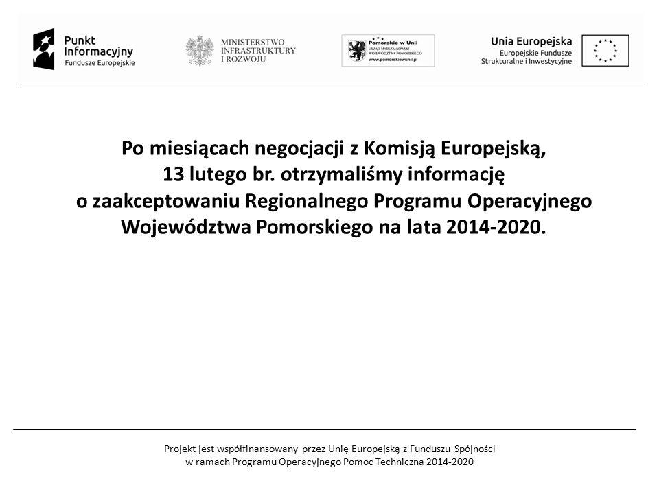 Projekt jest współfinansowany przez Unię Europejską z Funduszu Spójności w ramach Programu Operacyjnego Pomoc Techniczna 2014-2020 Po miesiącach negoc