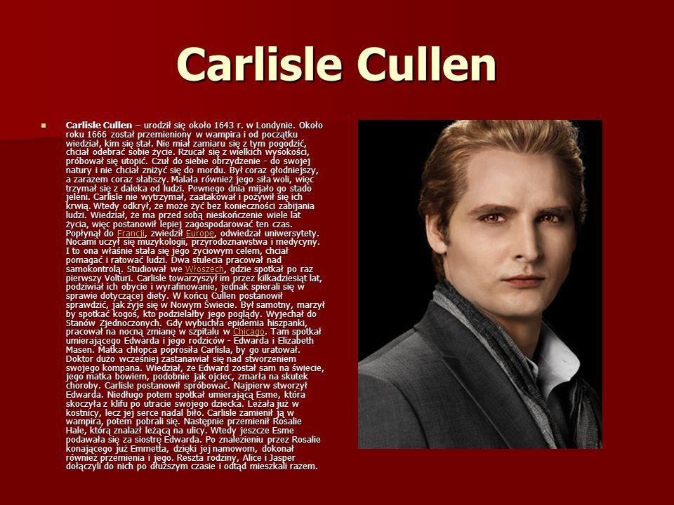 Carlisle Cullen Carlisle Cullen – urodził się około 1643 r.