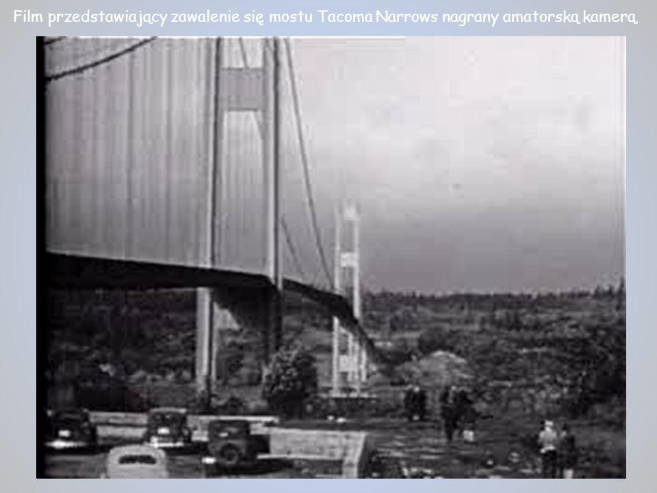 Film przedstawiający zawalenie się mostu Tacoma Narrows nagrany amatorską kamerą.