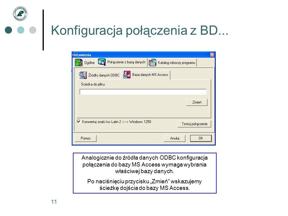 11 Konfiguracja połączenia z BD...