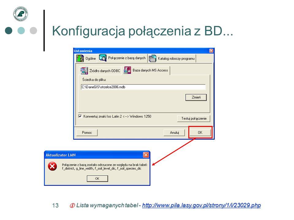 13 Konfiguracja połączenia z BD...