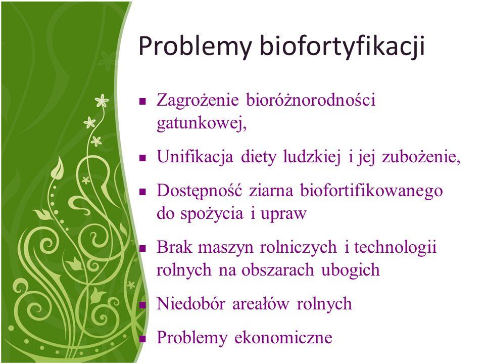 Suplementacja diety a biofortyfikacja| Złagodzenie skutków niedoborów mikroelementarnych Forma przystępniejsza, ale czy bardziej bioprzyswajalna.