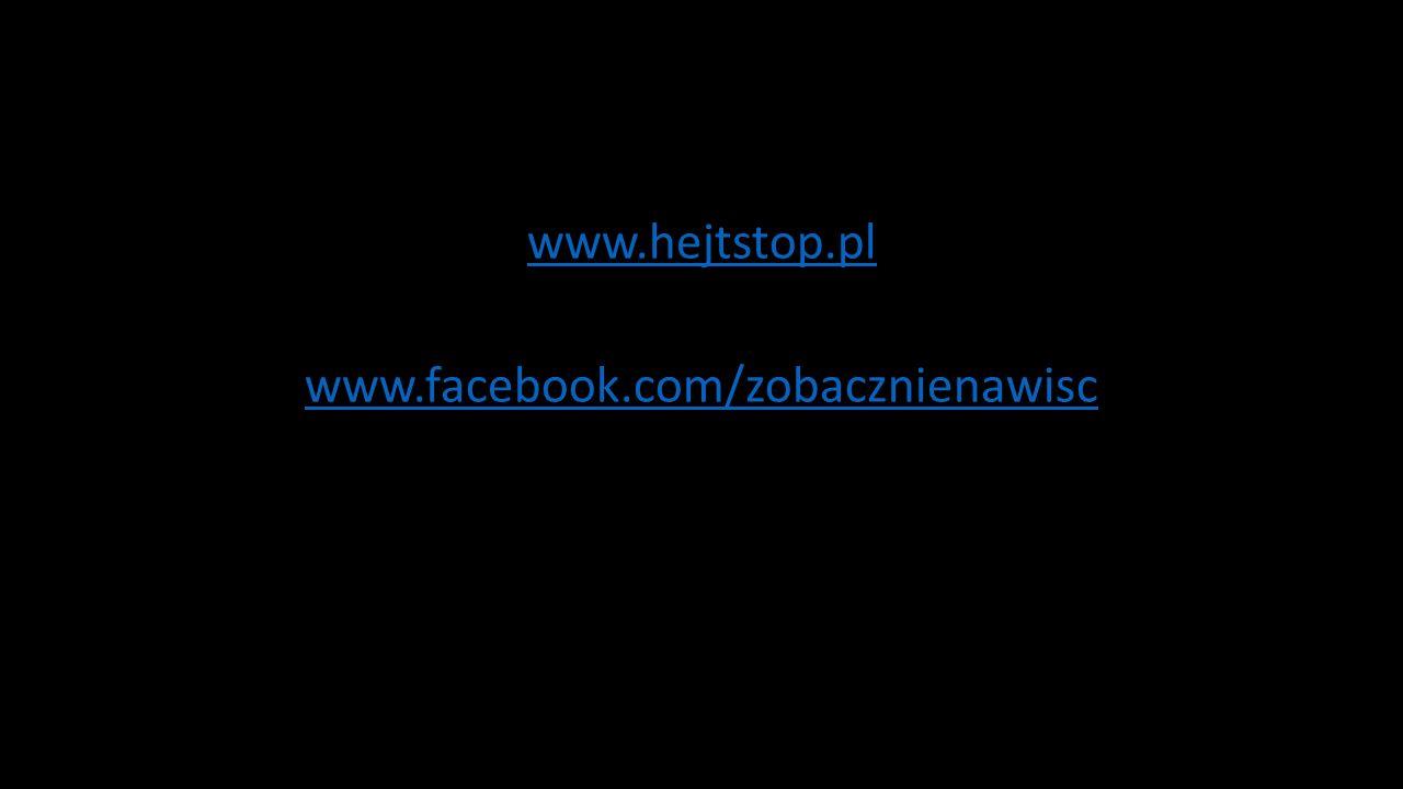 www.hejtstop.pl www.facebook.com/zobacznienawisc