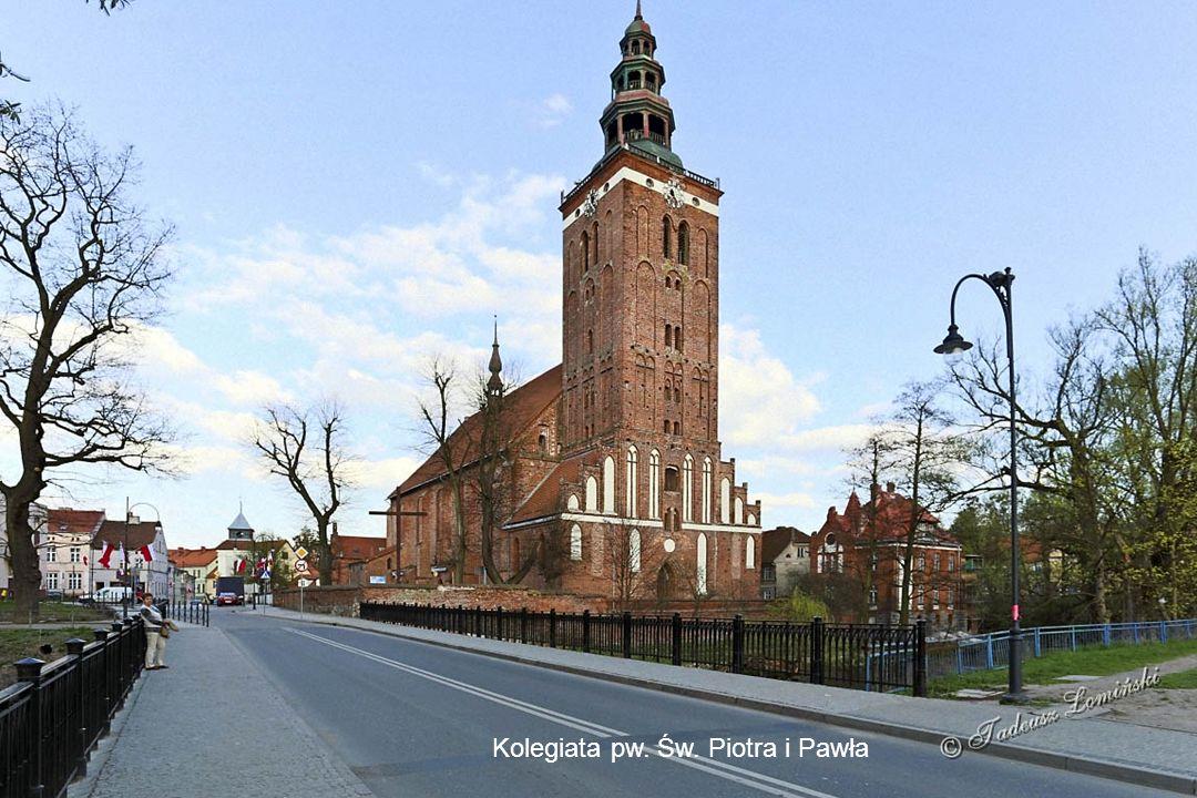 Ratusz z przełomu XIX i XX wieku z neogotyckim wykuszem Kamieniczki na Placu Wolności