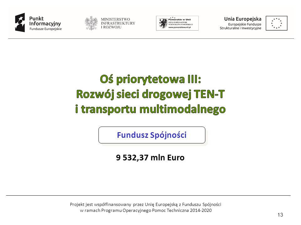 Projekt jest współfinansowany przez Unię Europejską z Funduszu Spójności w ramach Programu Operacyjnego Pomoc Techniczna 2014-2020 13 Fundusz Spójności