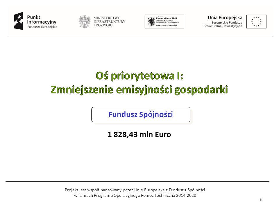 Projekt jest współfinansowany przez Unię Europejską z Funduszu Spójności w ramach Programu Operacyjnego Pomoc Techniczna 2014-2020 6 Fundusz Spójności
