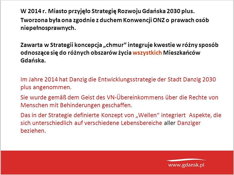 W 2014 r. Miasto przyjęło Strategię Rozwoju Gdańska 2030 plus.