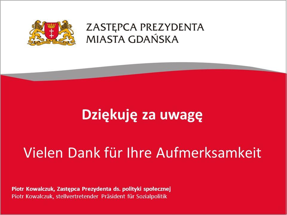 Dziękuję za uwagę Vielen Dank für Ihre Aufmerksamkeit Piotr Kowalczuk, Zastępca Prezydenta ds.