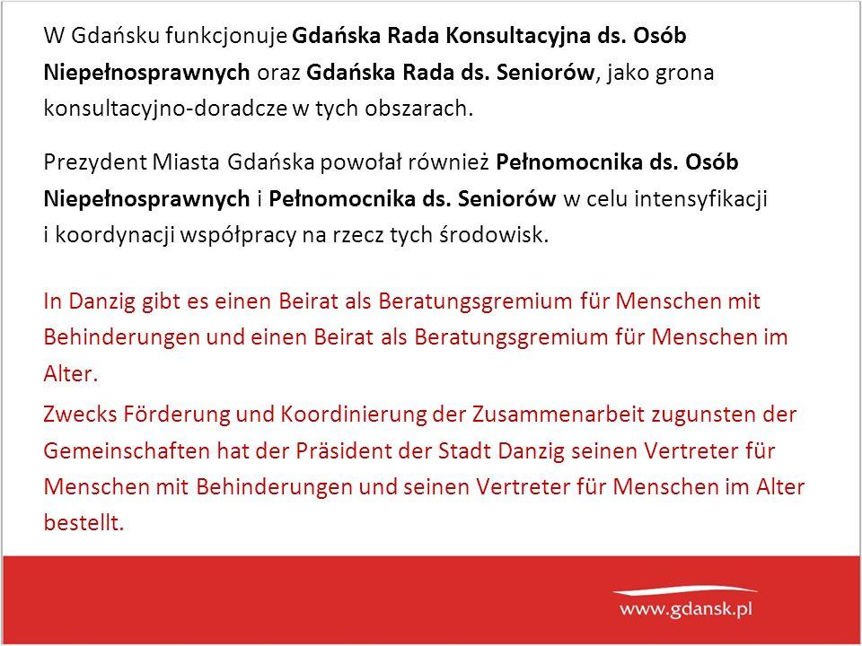 W Gdańsku funkcjonuje Gdańska Rada Konsultacyjna ds.