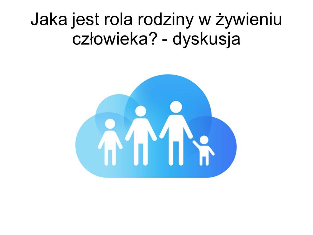 Jaka jest rola rodziny w żywieniu człowieka? - dyskusja