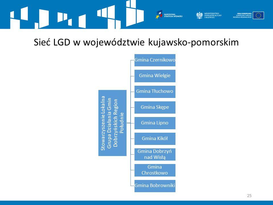 Sieć LGD w województwie kujawsko-pomorskim Stowarzyszenie Lokalna Grupa Działania Gmin Dobrzyńskich Region Południe Gmina Czernikowo Gmina Wielgie Gmi