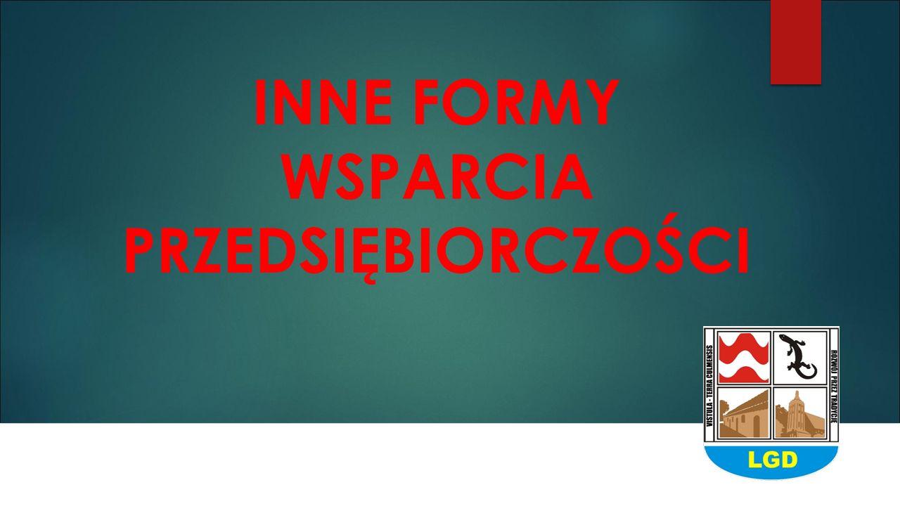 INNE FORMY WSPARCIA PRZEDSIĘBIORCZOŚCI