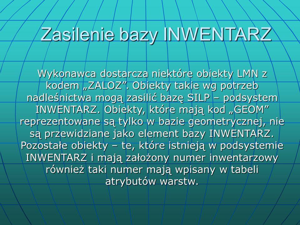 """Wykonawca dostarcza niektóre obiekty LMN z kodem """"ZALOZ ."""