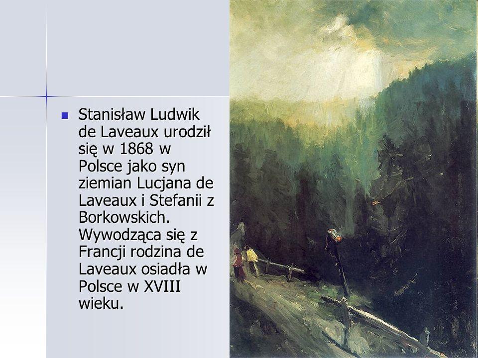 Stanisław Ludwik de Laveaux urodził się w 1868 w Polsce jako syn ziemian Lucjana de Laveaux i Stefanii z Borkowskich. Wywodząca się z Francji rodzina