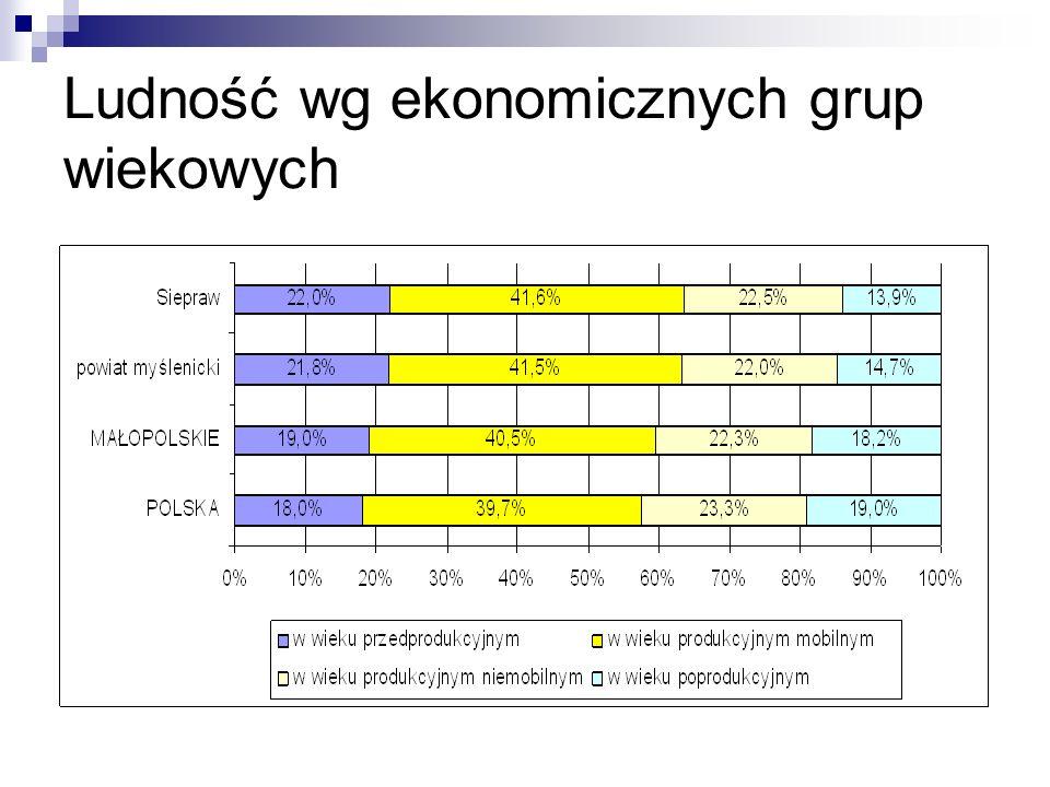 Ludność wg ekonomicznych grup wiekowych
