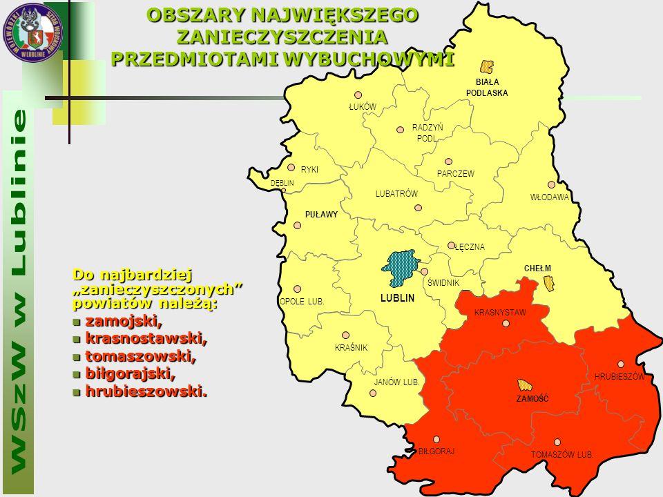 """Do najbardziej """"zanieczyszczonych powiatów należą: zamojski, zamojski, krasnostawski, krasnostawski, tomaszowski, tomaszowski, biłgorajski, biłgorajski, hrubieszowski."""