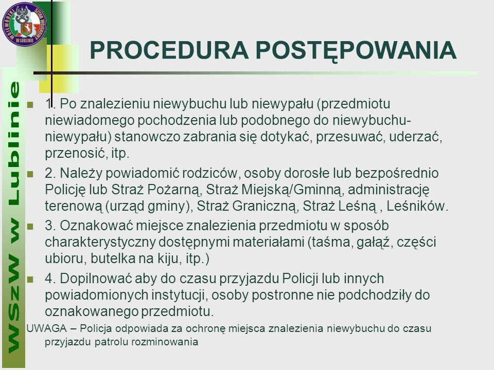 PROCEDURA POSTĘPOWANIA 1.