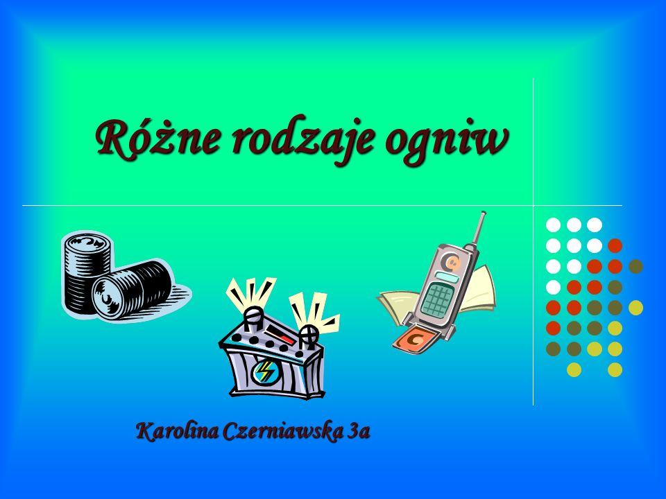 Różne rodzaje ogniw Karolina Czerniawska 3a