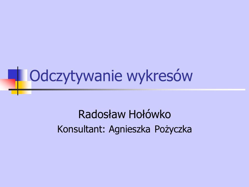 Odczytywanie wykresów Radosław Hołówko Konsultant: Agnieszka Pożyczka