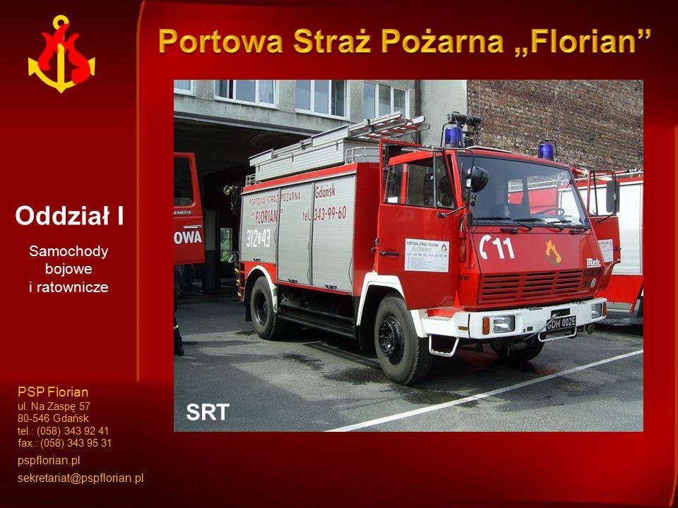 Oddział I GBA 1,6/16/35GBA 2,5/16SD 37SRT Samochody bojowe i ratownicze PSP Florian ul. Na Zaspę 57 80-546 Gdańsk tel.: (058) 343 92 41 fax.: (058) 34