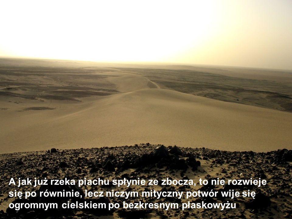 No to skąd wylewa się ta rzeka piasku To jedna z wielu tajemnic Sahary.