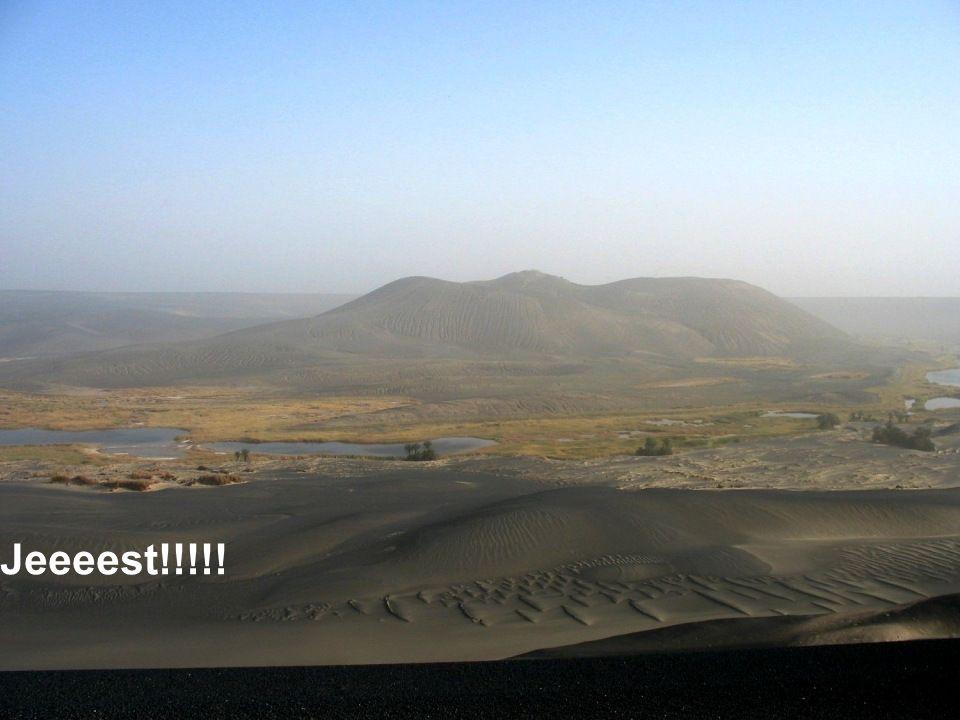 Wjeżdżamy na tzw. Czarną Saharę.