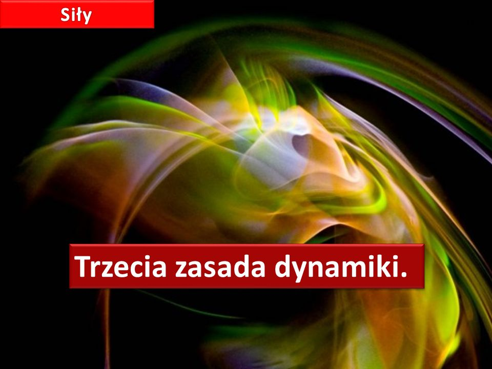 Trzecia zasada dynamiki.