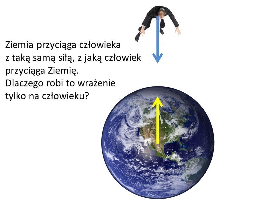 Ziemia przyciąga człowieka z taką samą siłą, z jaką człowiek przyciąga Ziemię.
