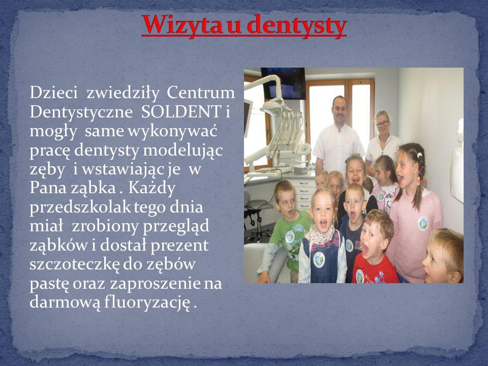 Dzieci zwiedziły Centrum Dentystyczne SOLDENT i mogły same wykonywać pracę dentysty modelując zęby i wstawiając je w Pana ząbka.
