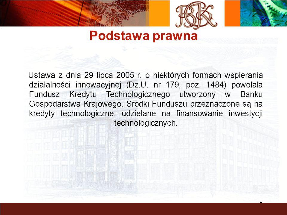 2 Podstawa prawna Ustawa z dnia 29 lipca 2005 r.