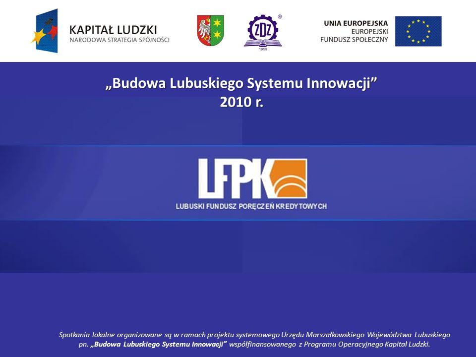 """""""Budowa Lubuskiego Systemu Innowacji 2010 r."""