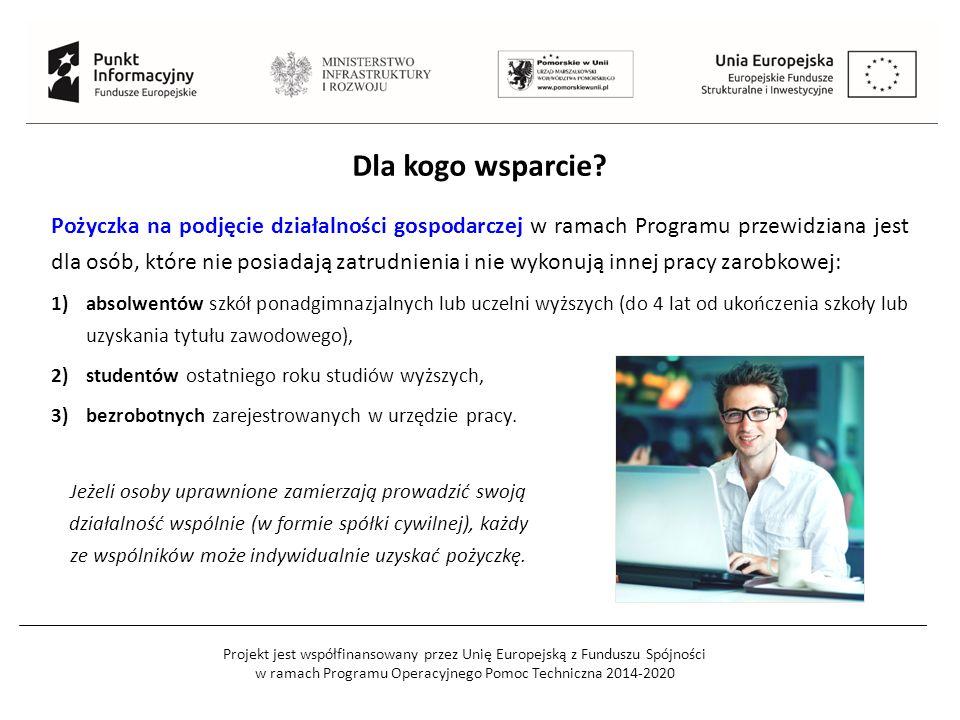 Projekt jest współfinansowany przez Unię Europejską z Funduszu Spójności w ramach Programu Operacyjnego Pomoc Techniczna 2014-2020 Dla kogo wsparcie?