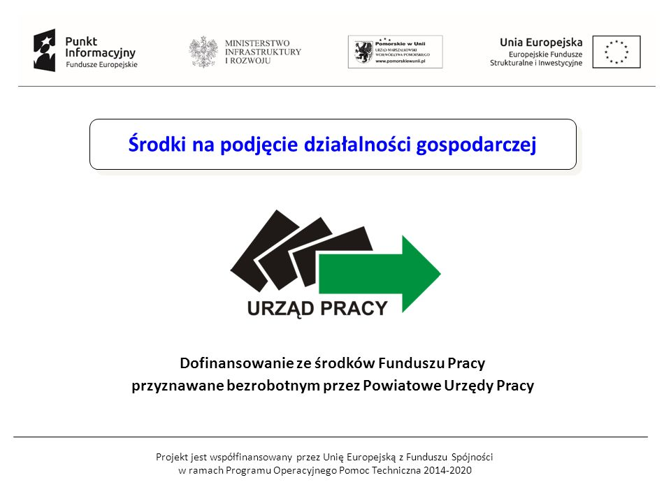 Projekt jest współfinansowany przez Unię Europejską z Funduszu Spójności w ramach Programu Operacyjnego Pomoc Techniczna 2014-2020 Środki na podjęcie