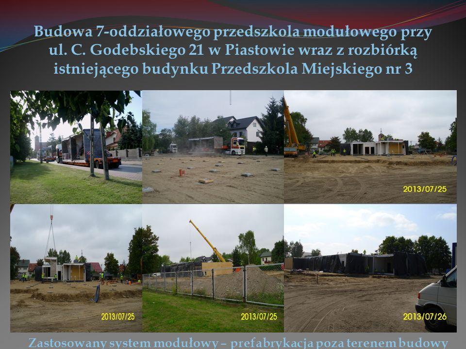 Budowa 7-oddziałowego przedszkola modułowego przy ul.