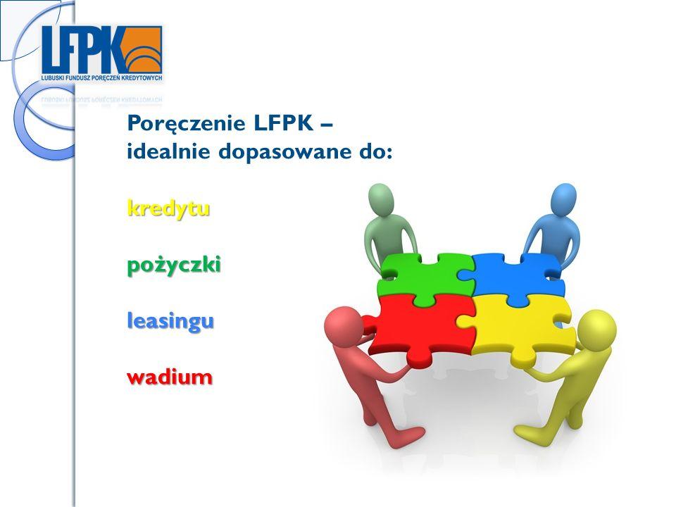 Poręczenie LFPK – idealnie dopasowane do:kredytupożyczkileasinguwadium