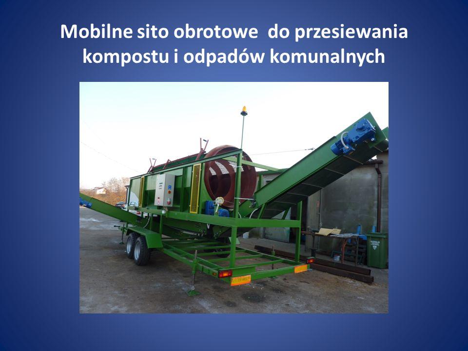 Mobilne sito obrotowe do przesiewania kompostu i odpadów komunalnych