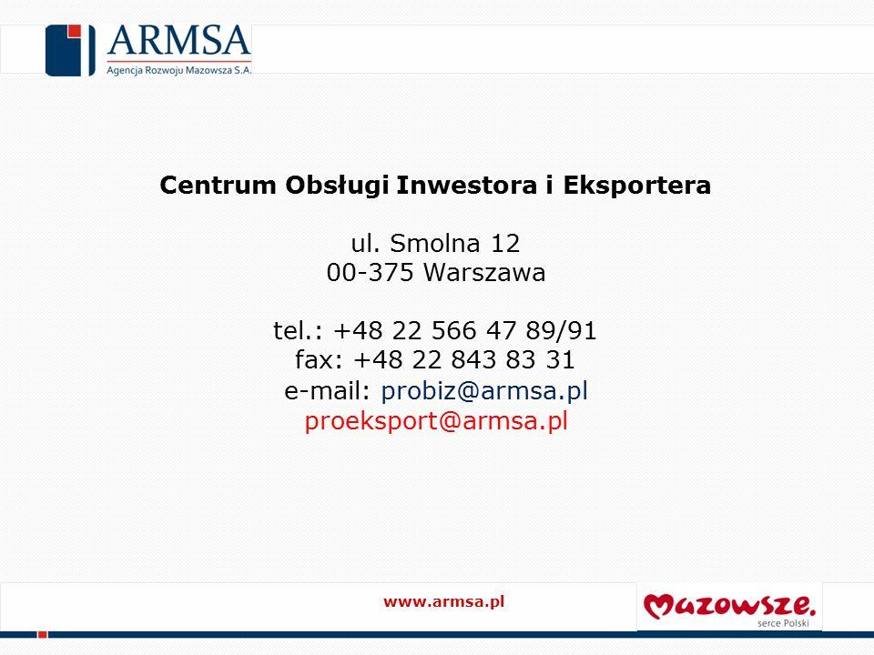 Centrum Obsługi Inwestora i Eksportera ul.