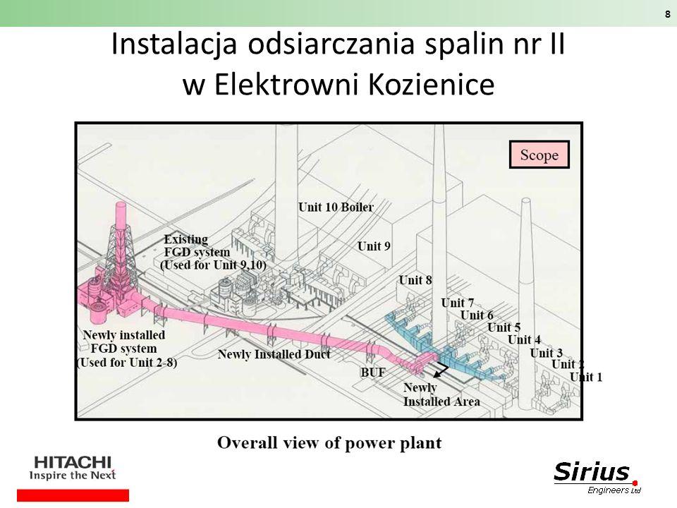 Instalacja odsiarczania spalin nr II w Elektrowni Kozienice 8