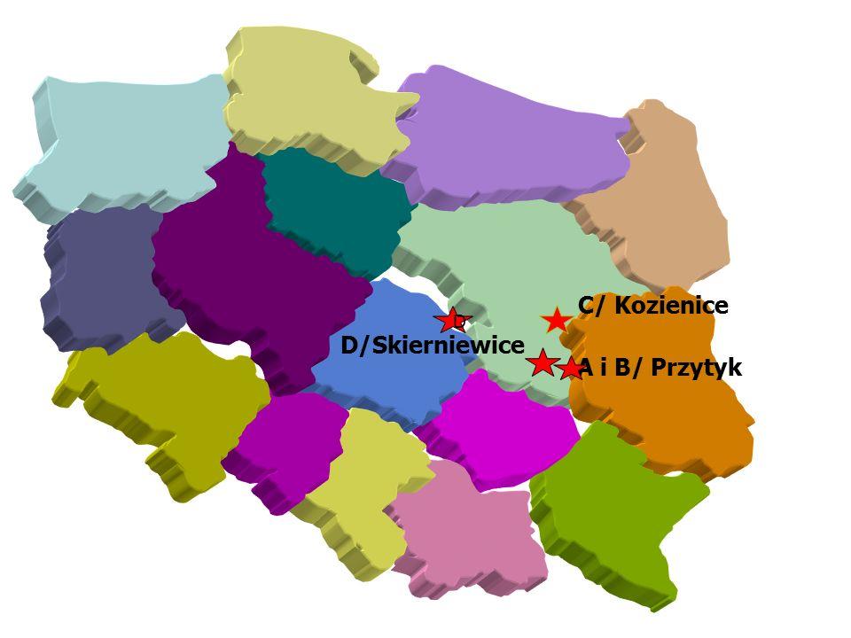 D/Skierniewice D A i B/ Przytyk C/ Kozienice Location of demonstration sites