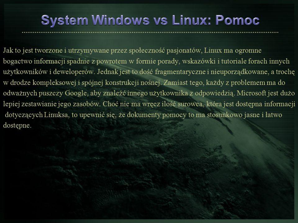 Jak to jest tworzone i utrzymywane przez społeczność pasjonatów, Linux ma ogromne bogactwo informacji spadnie z powrotem w formie porady, wskazówki i