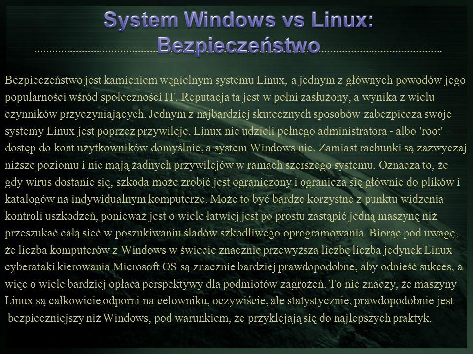 Bezpieczeństwo jest kamieniem węgielnym systemu Linux, a jednym z głównych powodów jego popularności wśród społeczności IT. Reputacja ta jest w pełni