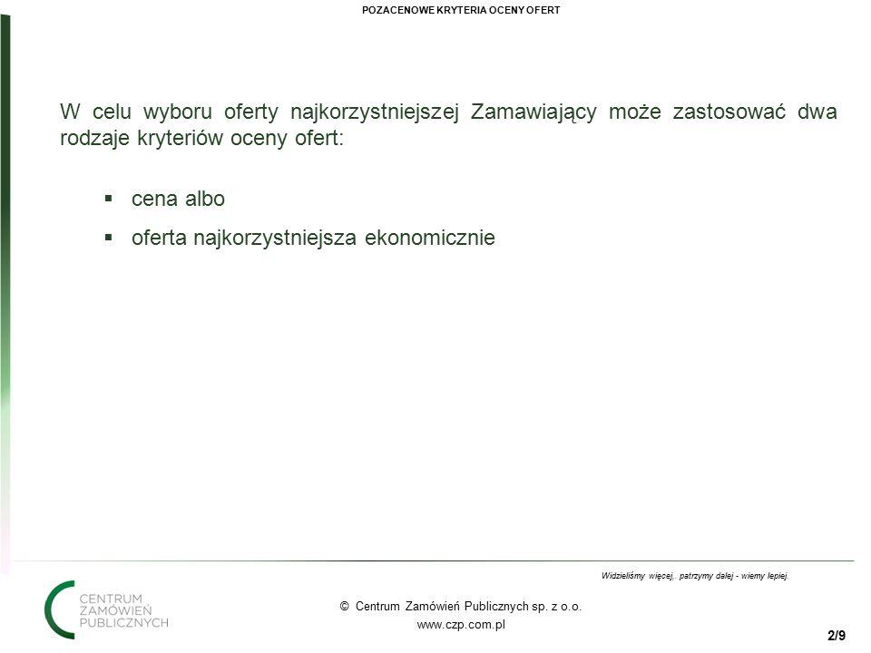 22 © Centrum Zamówień Publicznych sp. z o.o. www.czp.com.pl Widzieliśmy więcej,.